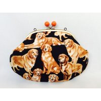 Golden doggy!|Make-up pouch